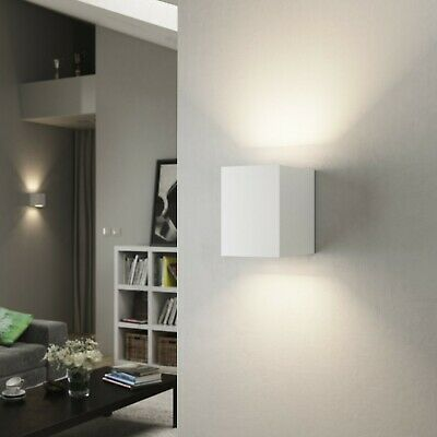 Up Down LED Plaster Ceramic Indoor Uplighter Wall Light Paintable Gypsum Sconce