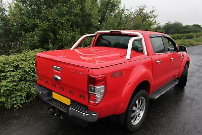 FORD RANGER T6 DOUBLE CAB 2012 ON EGR 3PC LID TONNEAU COVER - Panther Black