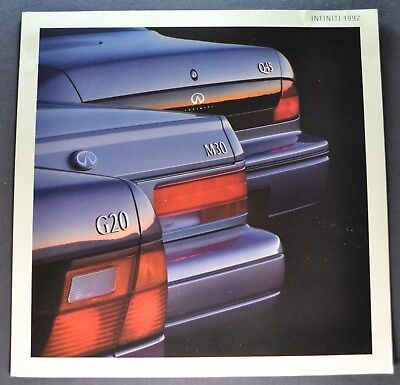 1992 Infiniti Sales Brochure Folder Q45 J30 G20 Excellent Original 92