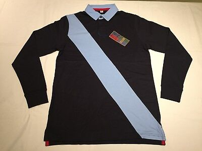 16ed8967c38 NEW MEN'S FRONT Row Diagonal Stripe Rugby Shirt. Navy/Sky. XL . R67 ...