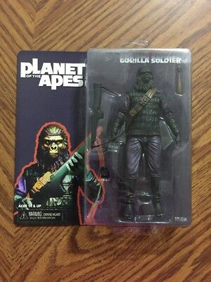 """2014 NECA Planet Of The Apes Series 1 """" Gorilla Soldier """" 7 """" Figure NEW"""