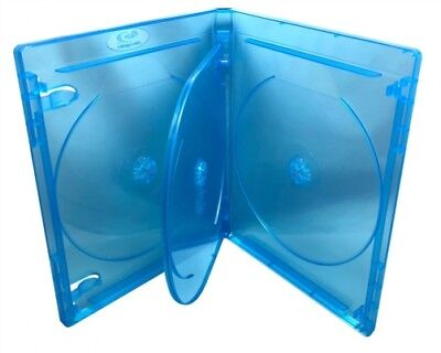 100 PREMIUM STANDARD Blu-Ray Quad 4 Disc DVD Cases 14MM