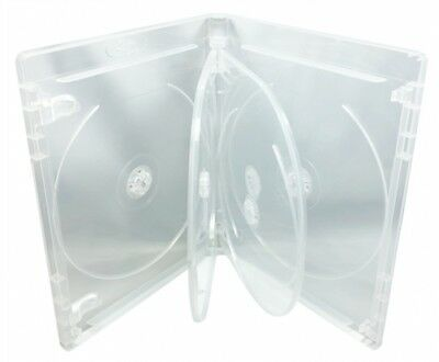 100 PREMIUM Clear Blu-Ray 6 Disc DVD Cases 14mm