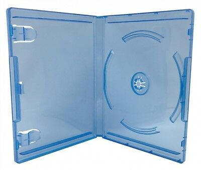 (SAMPLE) - 1 Clear Blue Playstation 4 Replacement Blu-ray Cases 14mm