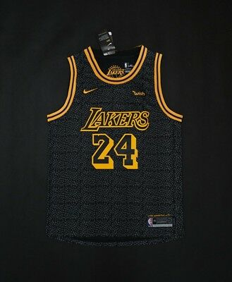 ea940f9f4c46 Kobe Bryant Los Angeles Lakers Black City Edition Nike Basketball Men s  Jersey s