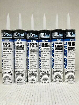 Sealer Combo Pack (2 Black)(2 White) High Teck & (2 Gray) Dominion Seam Sealer