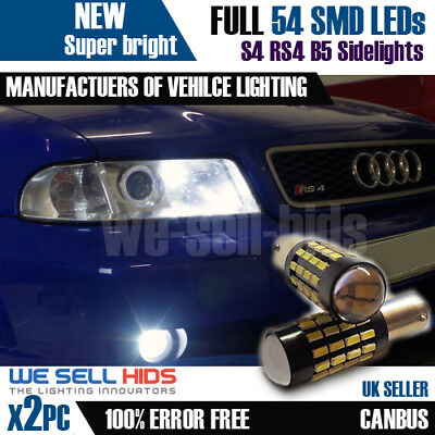 2X BAX9S H6W 57 SMD Audi RS4/S4 B5 Sidelights error free canbus Bulbs Error Free