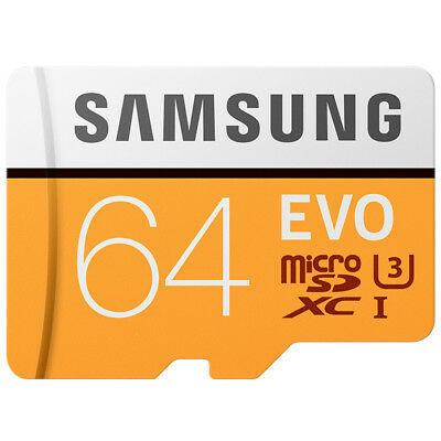 New for Samsung EVO 64GB Micro SD SDXC Flash Memory Card Class 10 UHS-I 100MB/s