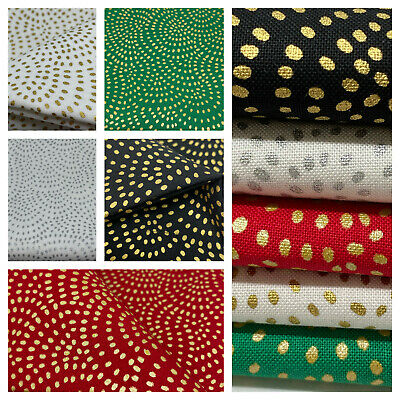 Metallic 'twist' by Dashwood 100% cotton patchwork & quilting fabric per FQT