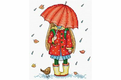 Cross Stitch Kit Autumn walk M-142