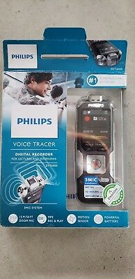 Philips Dvt6010/00 Voice Tracer Audio Recorder (Black/silver)