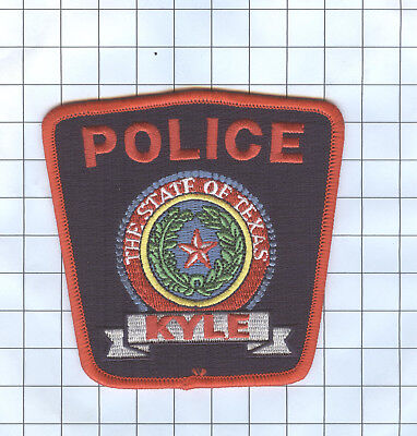 Police Patch - TEXAS - KYLE RED BORDER