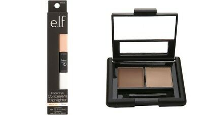 e.l.f. Concealer & Highlighter Medium/Glow AND e.l.f. Eyebrow Kit Gel/Powder Lt