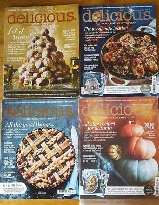 4 x Delicious magazines September, October, November & December 2017