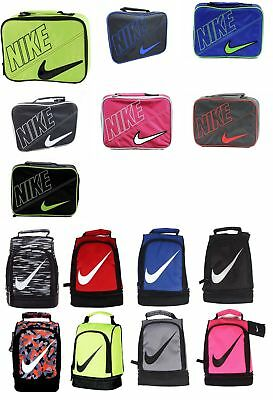 Nike Insulated School Lunch Box Tote Carrier Black Blue Green Pink Red