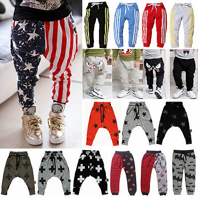 Infant Kids Boys Harem Pants Sweatpants Baby Girls Leggings Long Sports Trousers