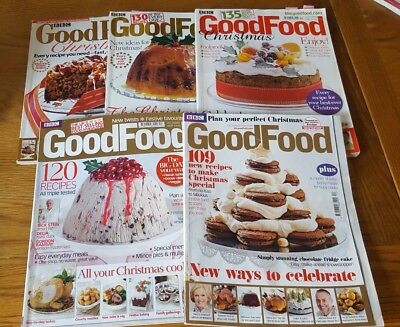 5 x Good Food magazine Christmas editions 2002, 2006, 2007, 2009 and 2013