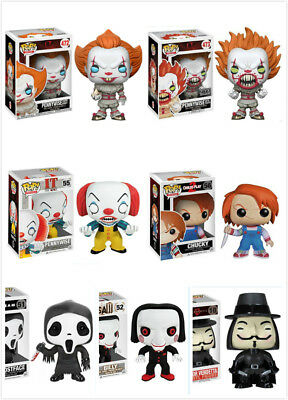 Scary Horror Movie It/Child's Play/Saw/Scream/V for Vendetta POP Figure/Keychain