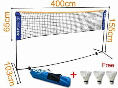 Badminton Tennis Volleyball Net SET+Frame Outdoor Folding Adjustable 157.4''
