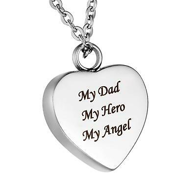 Father Day Gifts From Daughter  Son  For Dad My Angel My Hero Memorial Necklace