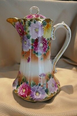 Hot Chocolate China Pot- Antique/Used