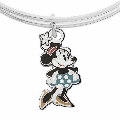 NEW Disney Parks ALEX AND ANI Minnie Mouse Silhouette Silver Bracelet