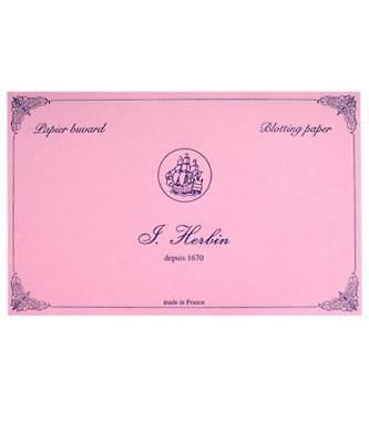 J. Herbin Blotter Paper Refills - 10 Sheets - Pink Highly Absorbent to Blot Ink