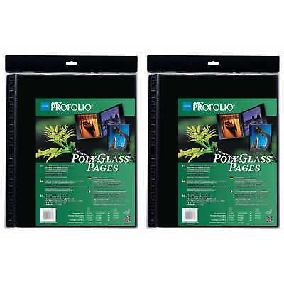 "Itoya Art Profolio Portrait Polyglass Pages (17"" x 22"") (2 Pack)"