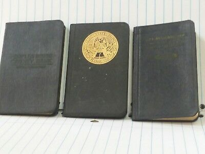 Peoples Wayne County Bank savings ledgers, 2.5x3.75 approximate size, 3 books