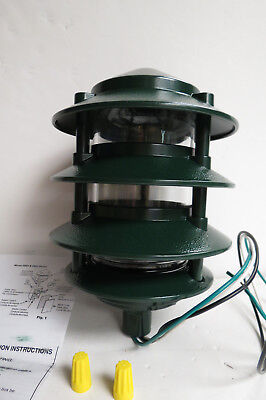 Bell Outdoor Landscape Light Kit Green Four Tier Fixture W/globe. 5893-8 New