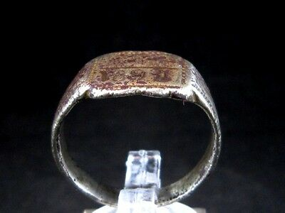 GENUINE ANTIQUE 1892's PERSONAL SILVER PLATED RING, YEAR INSCRIBED!!!