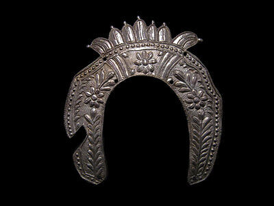 ANTIQUE 1700-1800s. GENUINE SILVER ORTHODOX ICON HALO-NIMBUS!!!