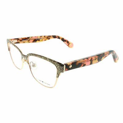 491c8a6434e9 Kate Spade KS Ladonna S41 Rose Gold Glitter Havana Metal Eyeglasses 53mm
