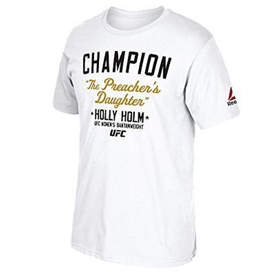 UFC Holly Holm Bantamweight Champion Poster T-Shirt White Heather