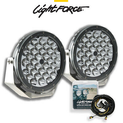LIGHTFORCE LED 215SD DRIVING LIGHT PAIR  plus WIRING - Warehouse Cleanout