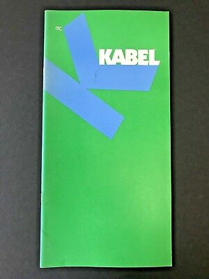 """ITC Kabel, type specification book, 1976, 28 pages, 6"""" x 12"""", graphic design"""