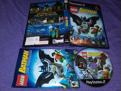 Lego Batman The Videogame Sony Playstation 2 2008 Complete Ps2