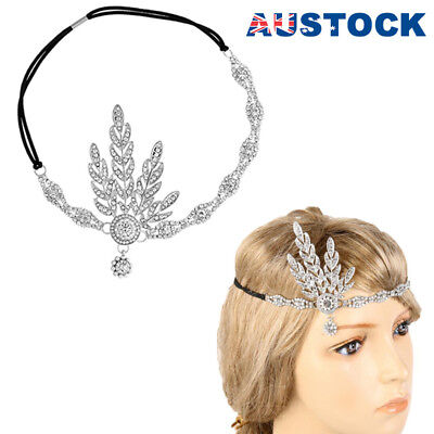 1920s Great Gatsby Headband 20s Vintage Bridal Headpiece Costume Accessory