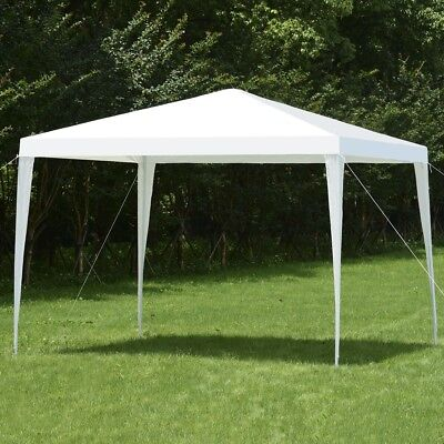 10'x10' Square Garden Patio Sun Shade Gazebo Canopy Wedding Party Tent Shelter
