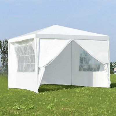 Outdoor 10'x10' Square Patio Gazebo Canopy Wedding Party Sun Rain Shelter Tent