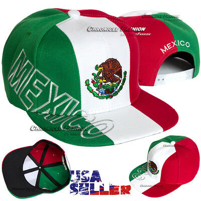 Mexican Hat Baseball Cap Snapback Mexico Federal Logo Embroidered