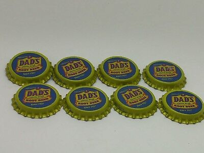 Dads Root Beer Bottle Caps(8)UnusedSoda Cola Bottle Caps Dads Rootbeer