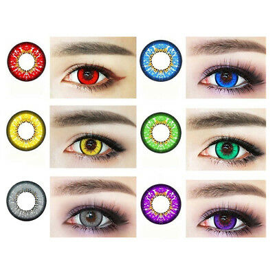 1 Pair Cosplay Big Eyes Natural Comfort Unisex Fashion Coloured Contact Lenses