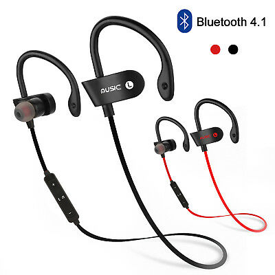 Sweatproof Headphones Wireless Bluetooth Sports Stereo Headset Earbuds Universal