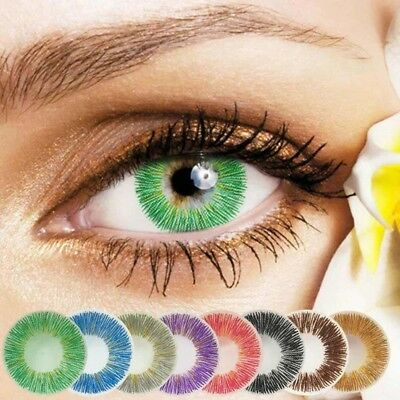 1Pair Women Colored Contact Lenses Attractive Eye Makeup for Cosplay Party Com