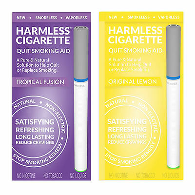 Stop Smoking Aid To Quit / Harmless Cigarette Satisfying Craving Relief 2 Pack