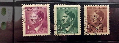 ~~VINTAGE TREASURES~~ Lot 300a - Collection of (3) WWII  German Stamps - used