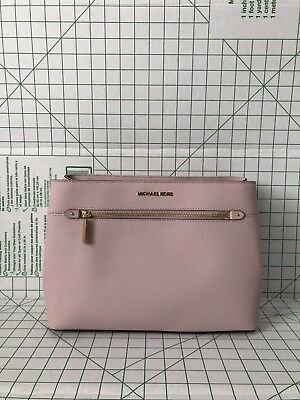 6ff82f4bb5f3 NWT Michael Kors Hailee Medium Satchel Saffiano Leather Purse Blossom Pink