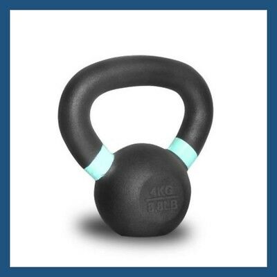 4kg Classic Powder Coated Cast Iron Russian Style KettleBell