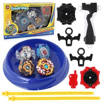 Metal Alloy Burst Gyro Fighting Gyroscope Launcher Spinning Arena Toys Kids Gift